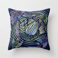 Bird Swirl Throw Pillow