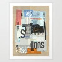 Sedimenti 15 Art Print