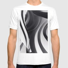 Paper Sculpture #5 SMALL Mens Fitted Tee White