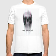 blured Mens Fitted Tee White SMALL