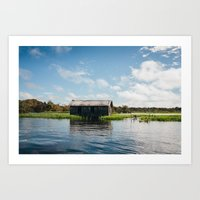 House On Water Art Print