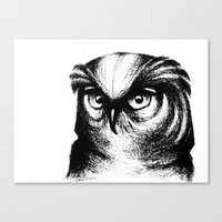 Horned Owl Canvas Print