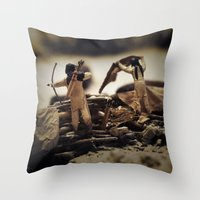 Tom Feiler Bow and Arrow Throw Pillow