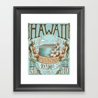 Hawaii Vintage Postage S… Framed Art Print