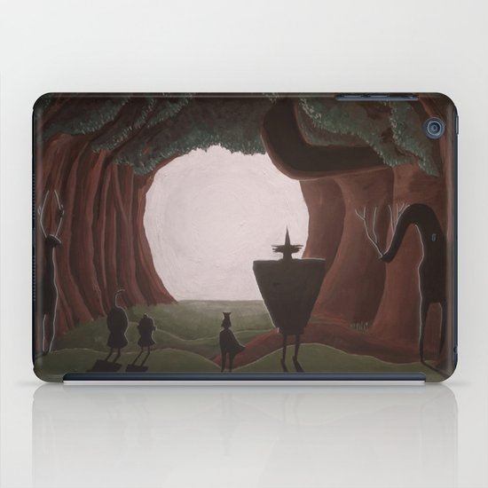 Tunnel in the end of the light. iPad Case