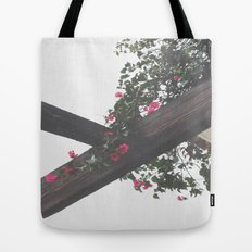 Wooden & Flowers Tote Bag