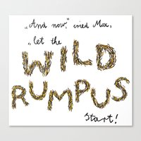 Let the wild rumpus start! Canvas Print