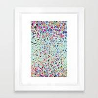 Glistening Sparkle Blur … Framed Art Print