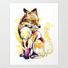 Fox Flow Art Print