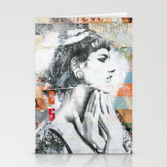 Ces belles mains Stationery Card