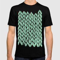 Hand Knitted Mint Mens Fitted Tee Black SMALL