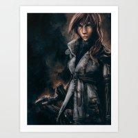 Lightning from Final Fantasy 13 Painting Art Print