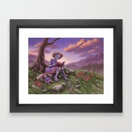 Framed Art Print featuring Fancy by Benjamin Clair