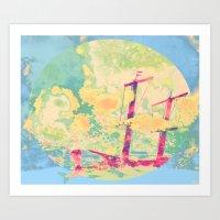 Sail in the Set Art Print