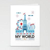My world Stationery Cards