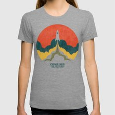 Come See The Universe Womens Fitted Tee Tri-Grey MEDIUM