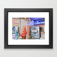 Glaces Framed Art Print