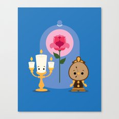 Lumiere and Cogsworth  Canvas Print