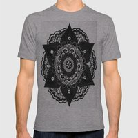 Flower Mandala Number 2 Mens Fitted Tee Athletic Grey SMALL