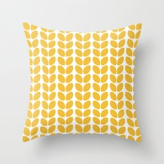 leaves - yellow Throw Pillow