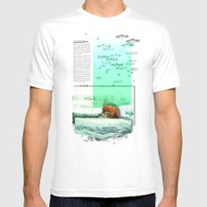 Alaskan Brown Bear Mens Fitted Tee SMALL White