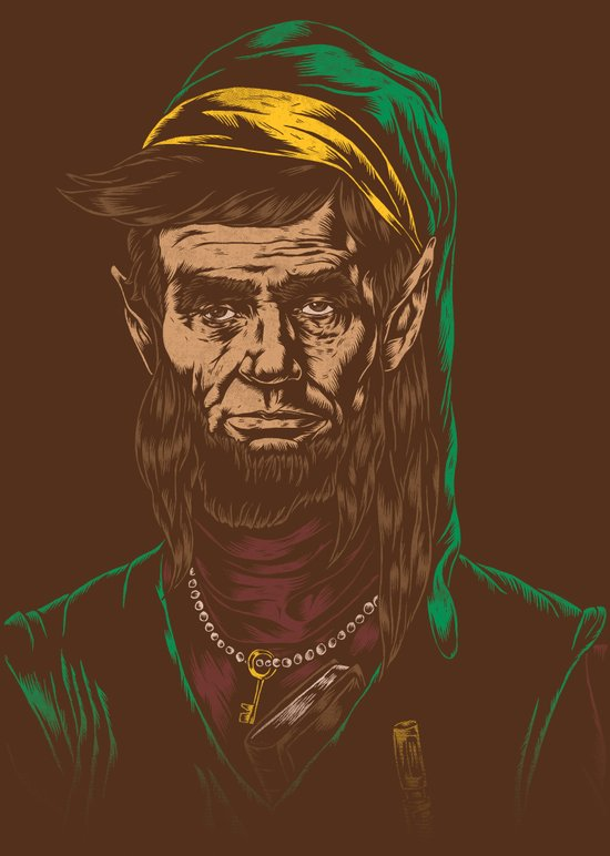 Abraham LINKoln Canvas Print