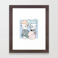 BOBA TWINS Framed Art Print