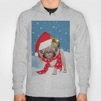 Pug Dog With Cute Santa … Hoody