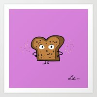 Cinnamon Raisin Toast Art Print