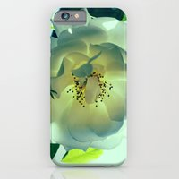 iPhone & iPod Case featuring White Rose by Gato Gris Games