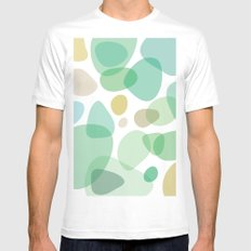 Sea Pebbles Mens Fitted Tee SMALL White