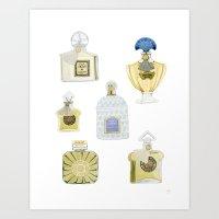 Guerlain Fragrances Art Print