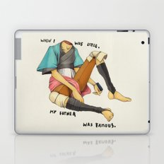 When I Was Little, My Father Was Famous. (Type) Laptop & iPad Skin