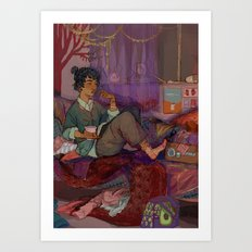 Blue Sargent' room Art Print