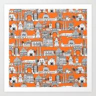 Los Angeles Orange Art Print