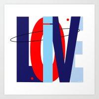 LOVE LIVE LOVE Art Print
