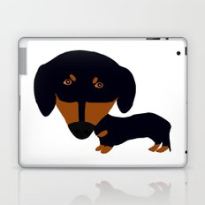 Dachshund (black and tan) Laptop & iPad Skin