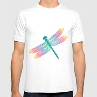 dragonfly v1 Mens Fitted Tee White SMALL