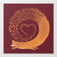 Fall Fox (Maroon) Canvas Print