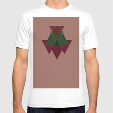 Pattern White Mens Fitted Tee SMALL