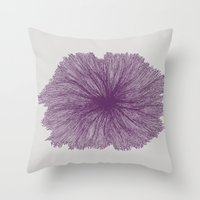 Jellyfish Flower A Throw Pillow