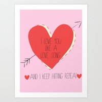 I Love You Like A Love S… Art Print