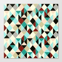 Harlequin Tile Canvas Print