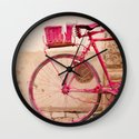 Lady in Pink Wall Clock