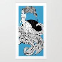 Her pet Art Print