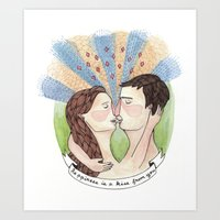 Happiness is a Kiss from You Art Print