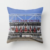 West Ham Olympic Stadium London Throw Pillow