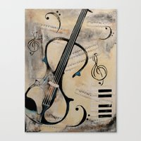 Canvas Print featuring Electric Violin by James Davis