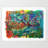 Tyrannosaurus Fresh  Art Print