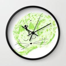 Fresh cat Wall Clock